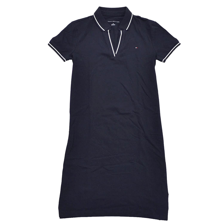81e9309d26 Tommy Hilfiger Womens Tory Mesh Polo Dress