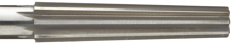 Alvord Polk 161-0 High-Speed Steel Finishing Reamer for Morse Taper Sockets Square Shank Morse Taper Size 2 Uncoated Finish Straight Flute
