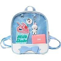 Ita Tas Boog-Knoop Candy Lederen Rugzak Transparant Meisjes Schooltas voor Pins Display Strandtas