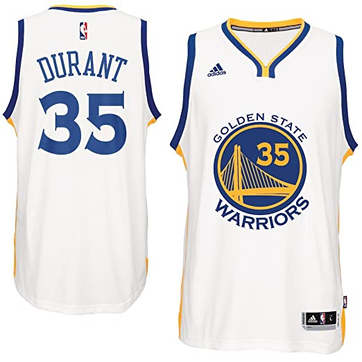 b4c12e703b7 adidas Kevin Durant Golden State Warriors NBA Home Climacool Swingman Jersey  for Men (Small)