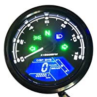 KKmoon - Cuentakilómetros Digital para Motocicleta, Pantalla LCD