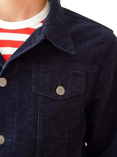 veste bleu marine velours côtelé bleu court Mode Indie