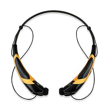 GEARONIC TM Duotono Sport Auriculares Inalámbricos Bluetooth Auriculares Estéreo Manos Libres Universal Auriculares - Oro