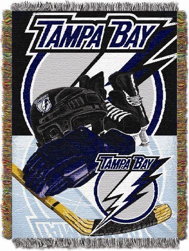 NHL Tampa Bay Lightning Homefield Ice Advantage Woven Tapestry Throw, 48
