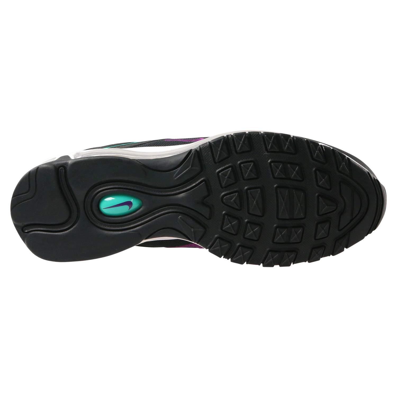 Nike Women's WMNS Air Max 97, BlackBright Grape Clear Emerald Black, 6 US