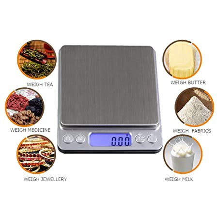 Amazon.com: Scale Machine - 500g 0.01g Precision Balance Electronic Scales Pocket Digital Scale Jewelry Pesas Weights - Radio Case Scale 1/18 Control ...