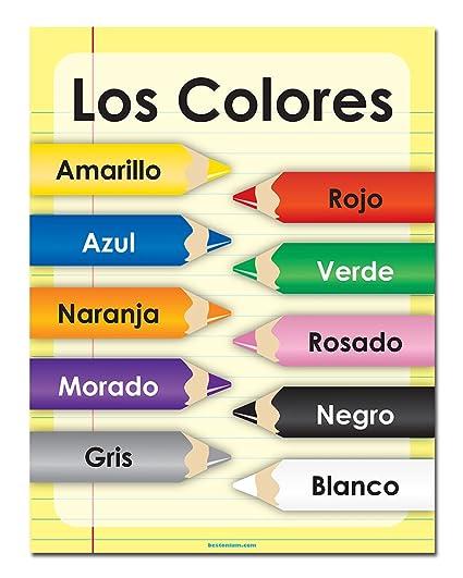 Amazoncom The Colors Spanish 20 X 26 Classroom