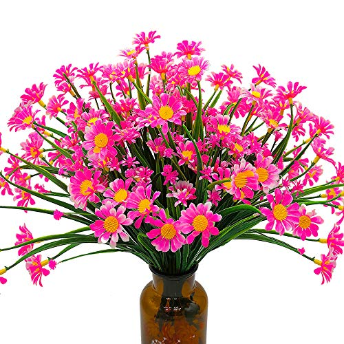 Grunyia Artificial Daisy Flowers (Pack of 4) (Pink)