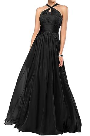 Dingzan Halter A Line Chiffon Bridesmaid Dresses For Wedding