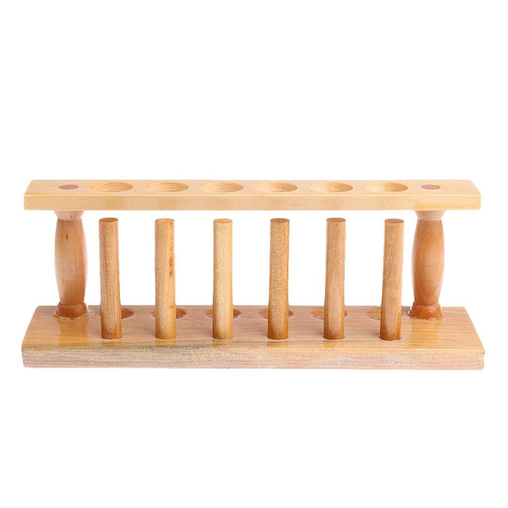B Blesiya Lab Test Tube Rack 22mm Scientific Glassware Support Stands Wooden