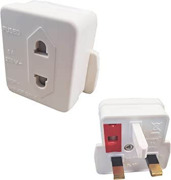 Magic Global Gadgets® UK 3 Pin a 2 Pin 1 A adaptador de afeitadora ...