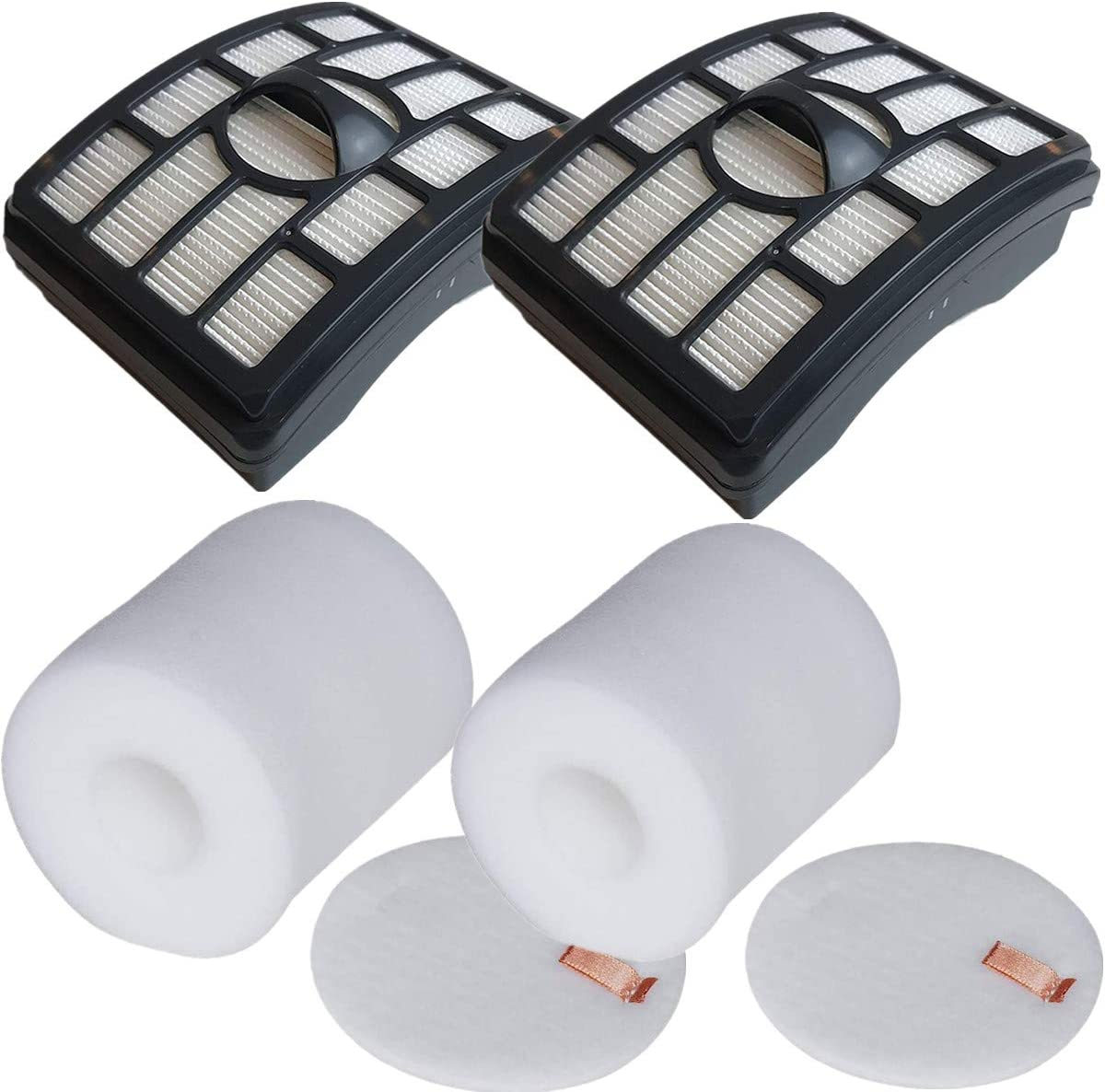 LLHome 2 Pack Hepa Filters for Shark Rotator Pro Lift-Away NV500 NV501 NV502 NV503 NV505 NV510 NV520 NV552 NV640 NV642 UV560 Vacuum. Replace Parts # XHF500 & XFF500