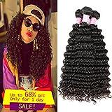 Miss GAGA Deep Wave Peruvian Hair 3 Bundles Extensiones de Cabello Weave 8-30 Pulgadas Deep Wave Virgen Cabello humano a la venta (28 28 28)