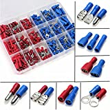 360 Pcs Mixed Assorted Crimp Terminal Connectors Set,Electrical Wire Connector Spade Terminal Assortment Kit with Storage Case