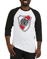 CafePress - Escudo River Plate Baseball Jersey - Cotton Baseball Jersey, 3/4 Raglan
