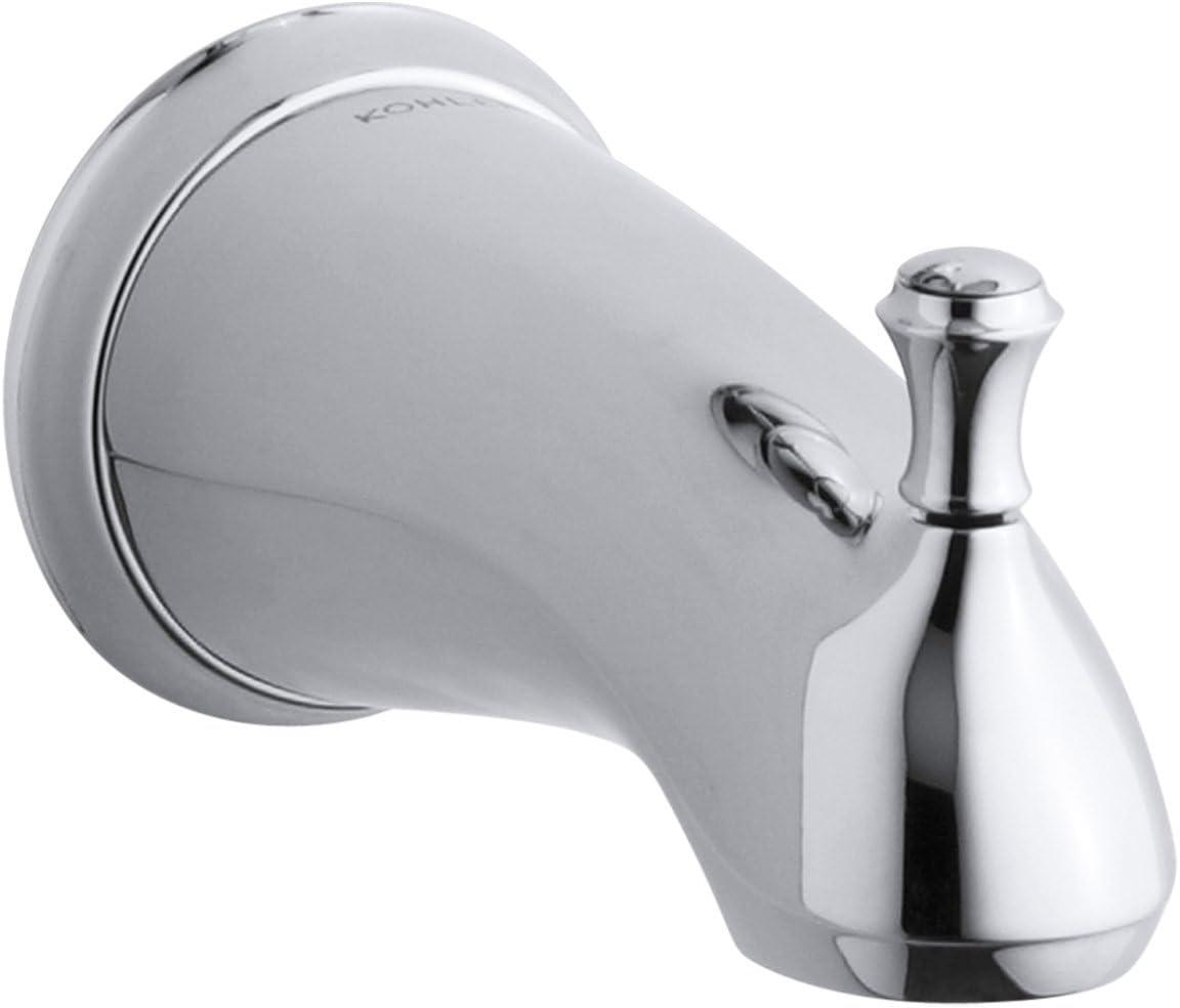KOHLER K-10280-4A-CP Forte Traditional Diverter Bath Spout, Polished Chrome