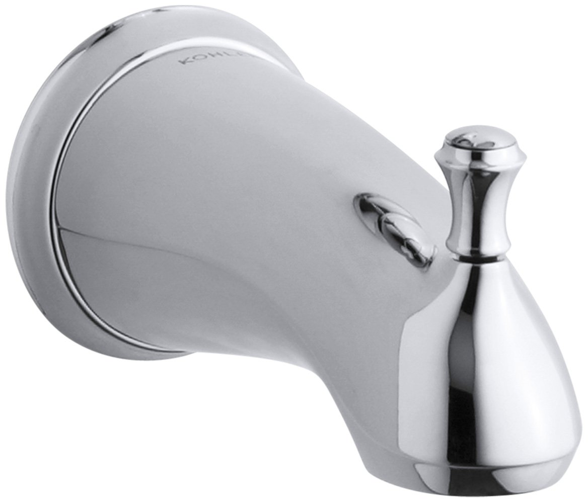 KOHLER K-10281-4A-CP Forte Traditional Diverter Bath Spout, Polished Chrome