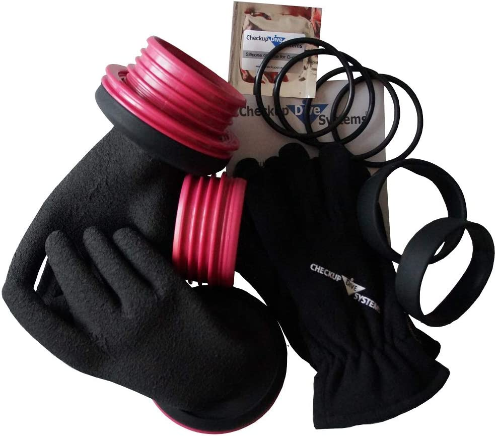 ohne Handschuhe CHECKUP Dive Systems Ring Set 85 mm oder 90 mm