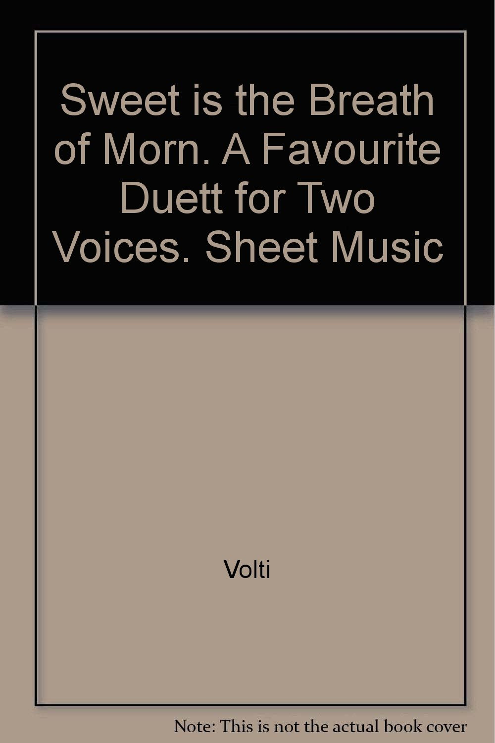 Sweet Is The Breath Of Morn A Favourite Duett For Two Voices Sheet