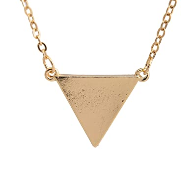 berazo triangle necklace silver vintage gold metal pendant alloy products