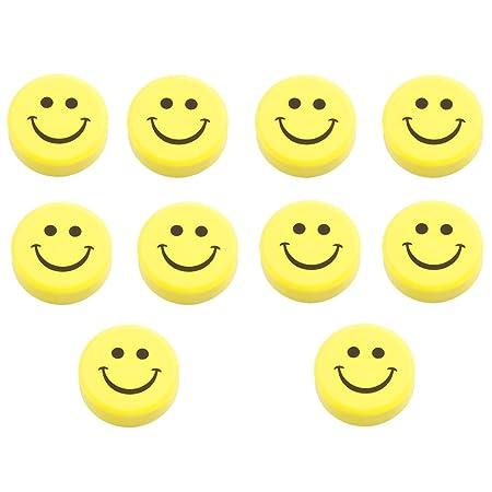 SODIAL(R) 10 Piezas Plastico Amarillo Cara Sonriente Nevera ...