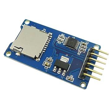 Aihasd Micro SD de almacenamiento Junta Mciro SD TF tarjeta de memoria Shield Módulo Adaptador de interfaz SPI para Arduino