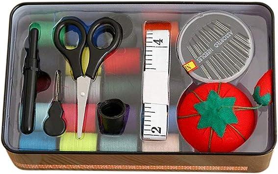 DMZK Kit de Couture Color/é 26pcs Professionnel Portable Necessaire Couture Accessoires