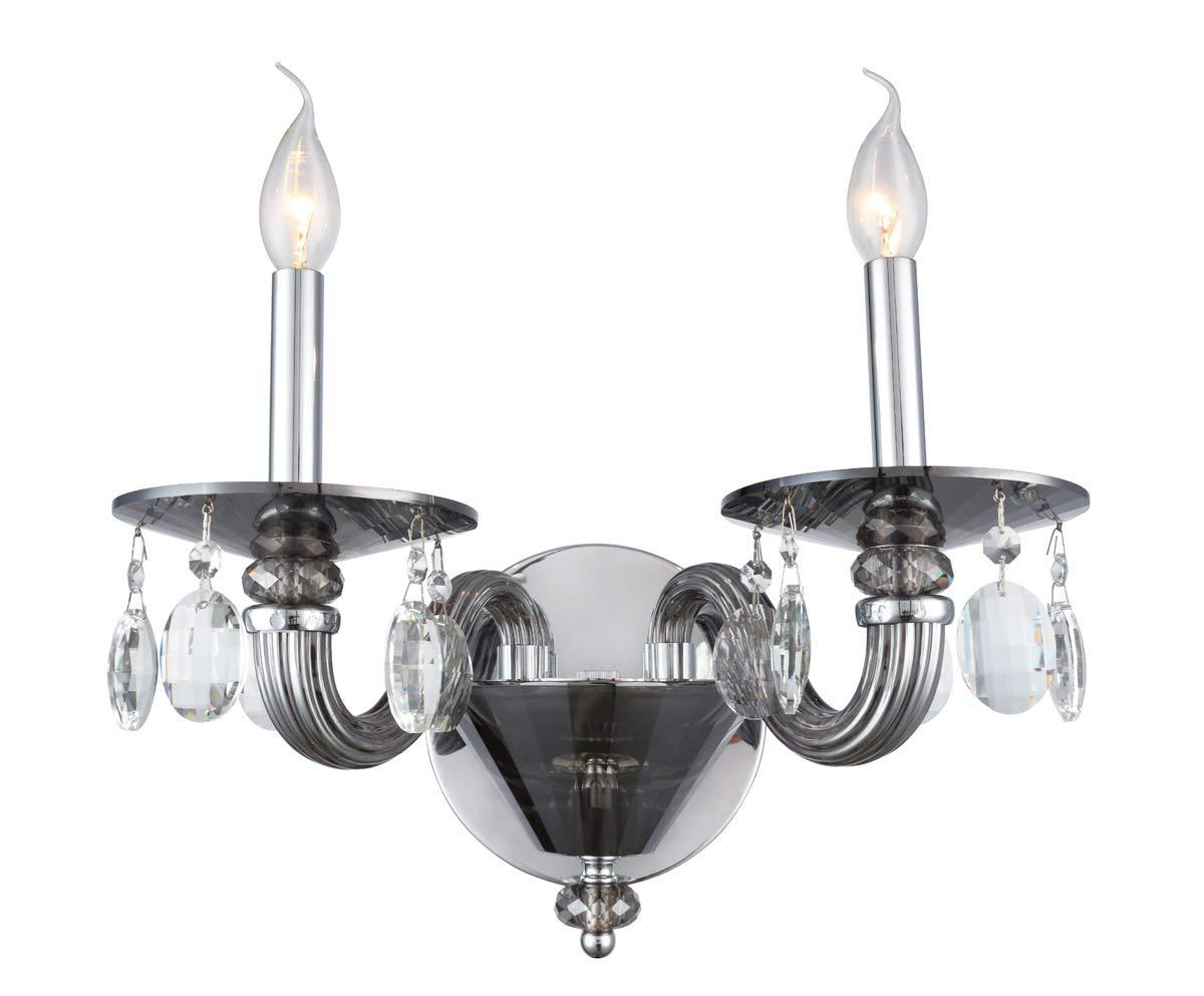 Wall sconces 2 light fixtures with silver shade tone finish e12 bulb type 15 80 watts amazon com