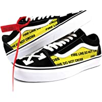 Vans Old Skool x OFF White Custom Handmade Uni-Sex Shoes By Patch Collection 6f510b413