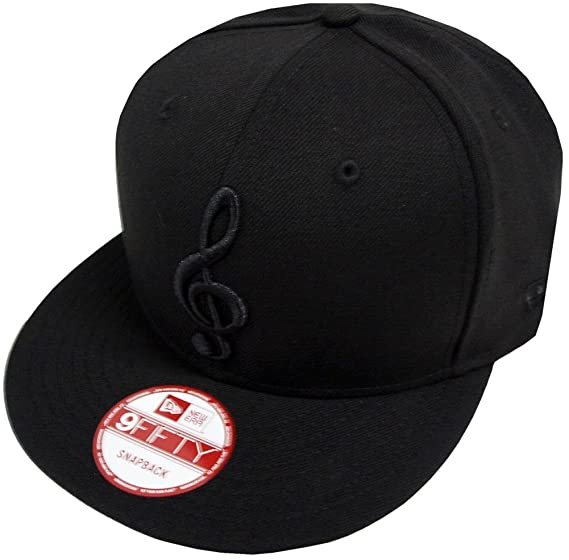 aa9c448cf New Era Music Note Black On Black Snapback Cap 9fifty Exclusive ...