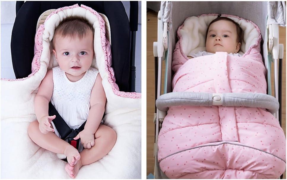 Pink,0-12 Months Fairy Baby Winter Waterproof Universal Pram Footmuff Car Seat Baby Sleeping Bags