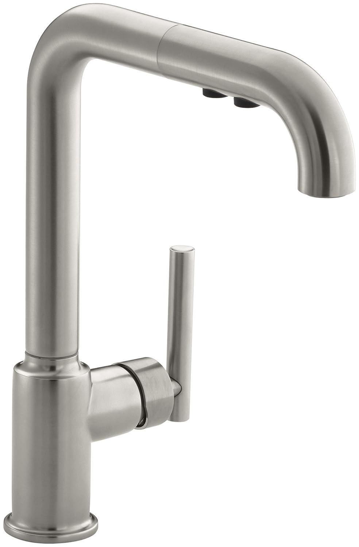 KOHLER K-7505-VS Purist Primary Pullout Kitchen Faucet, Vibrant ...