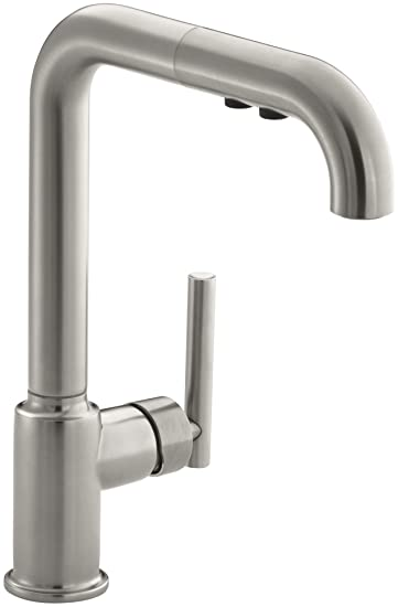 kohler k 7505 vs purist primary pullout kitchen faucet vibrant stainless. Interior Design Ideas. Home Design Ideas