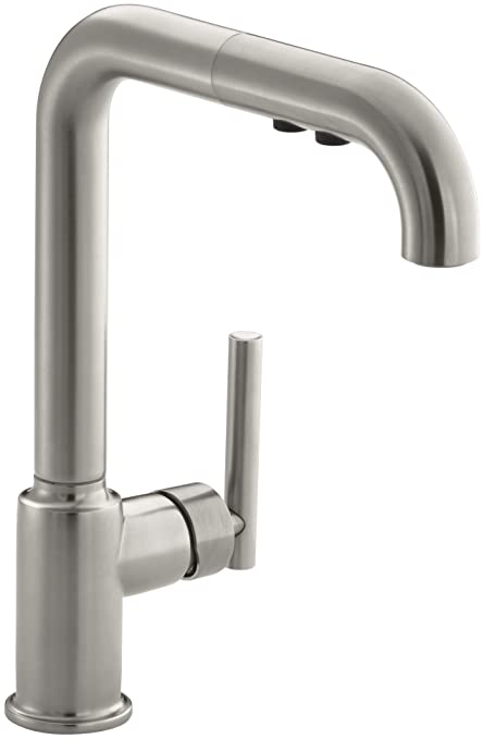 single kitchen kitchens arch pull american out faucets standard kohler handle faucet