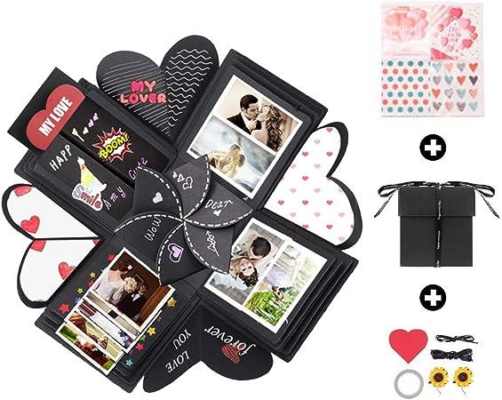 Caja de explosión hecha a mano, caja de regalo, álbum de fotos, caja de regalo para cumpleaños, boda, aniversario, fiesta, día de San Valentín, Navidad, regalo sorpresa para hombres y mujeres amigas.: