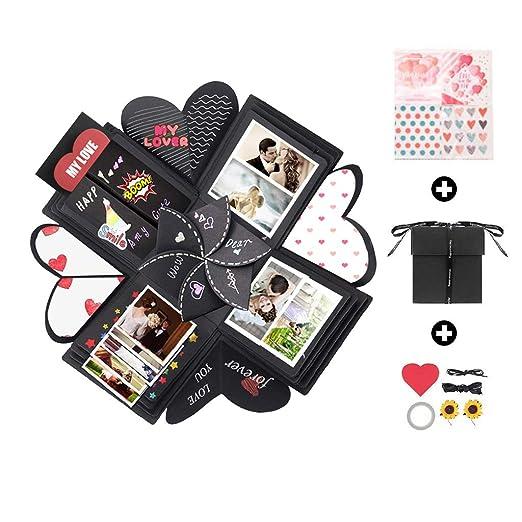 Amycute - Caja de regalo creativa, caja sorpresa, caja de explosión, regalo de bricolaje, scrapbook, libro de recortes hecho a mano para bodas, ...