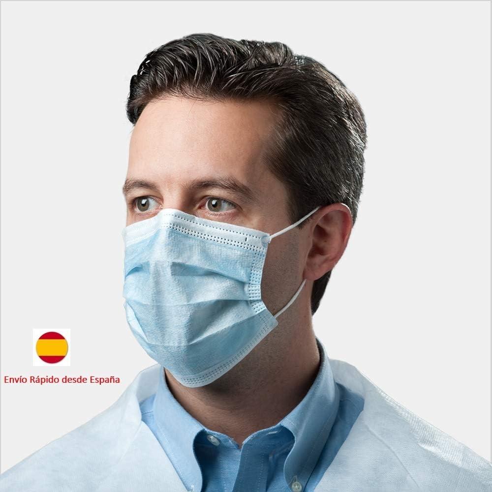 30Pcs M/áscara de polvo universal Filtro de 3 capas 99/% Bacterias Protecci/ón contra el polvo Cubierta de la boca M/áscara Protecci/ón de la cara M/áscara higi/énica c/ómoda Aplicable para adultos y ni/ños Un