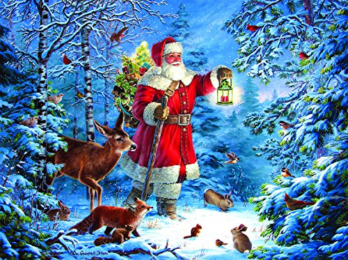Wilderness Santa 1000 Piece Jigsaw Puzzle by SunsOut