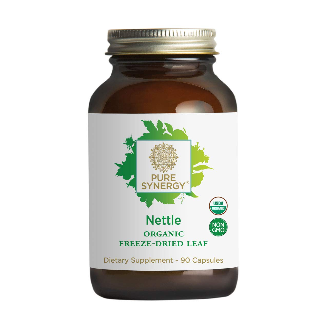 Pure Synergy USDA Organic Freeze-Dried Nettle Leaf (90 Capsules) Supports Healthy Histamine Levels During Allergy Season