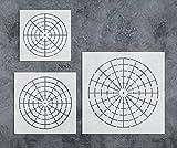GSS Designs Pack of 3 Mandala Stencils Template Set - Mandala Dotting Tool 8/12/16 Segment - Art Painting Guide for Furniture Cards Canvas Stone Wood (SL-016)