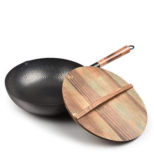 TTKJ Wok Casa Cocina de inducción Adecuada para Wok de ...