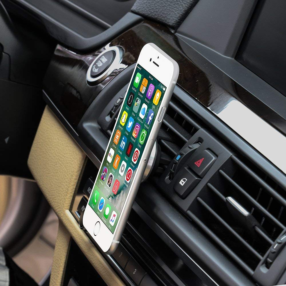 Strong Hands Free Magnetic Cell Phone Holder HTC iPhone Xs//Xr//8 plus//7s//6s Rose Gold//Pink Sony Samsung Galaxy S9+//S8+//Note8//Edge Universal Flat Kickstand for GPS Cute Car Air Vent Mount Kit
