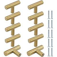 10 STKS Lade Handgrepen T Bar Keuken Deurknoppen, ZUYOKO Moderne Metalen Kast Handvatten Deur Handvat Meubelgrepen met…