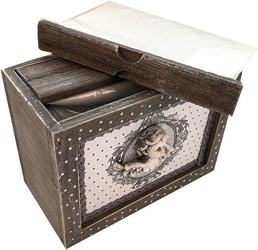 Envejecido Raw madera gris caja de álbum de fotos rústico Shabby 48 fotos 6 x 4: Amazon.es: Hogar