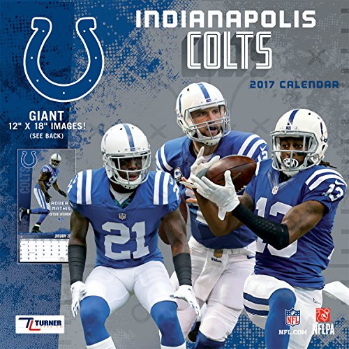 """Turner Licensing Sport 2017 Indianapolis Colts Team Wall Calendar, 12""""X12"""" (17998011912)"""
