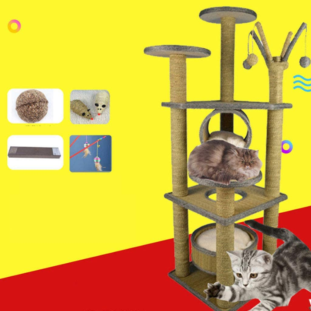Cat Houses Condos Cat Tree Apartment Building Kitten Tree House Bed Furniture Pet Palace Cat Palace Color Brown Size 65 48 155cm Amazon Ca Home Kitchen