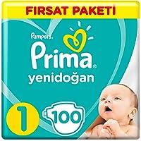 Prima Bebek Bezi Yeni Bebek 1 Beden Yenidoğan Fırsat Paketi, 100 Adet
