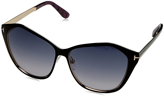 d14172442e6 Tom Ford Sunglasses TF 391 Lena 05B Black Multicolor 58mm at Amazon ...