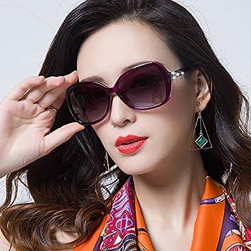 Sunyan Las Nuevas Gafas de Sol de Alto Brillo Cara Redonda ...