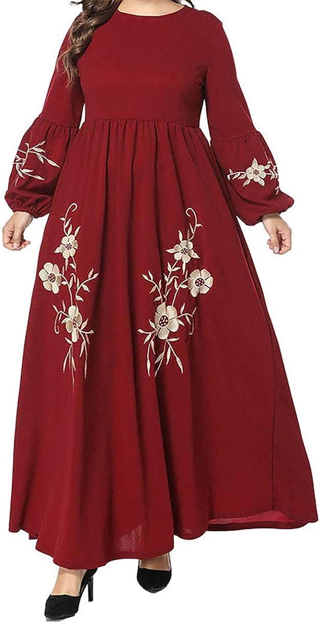 zhxinashu Abaya Abbigliamento Lungo Islamico Caftano Musulmane Vestito Largo Donna Arabo Robe Elegante degli Abiti del Ricamo Manica Lunga